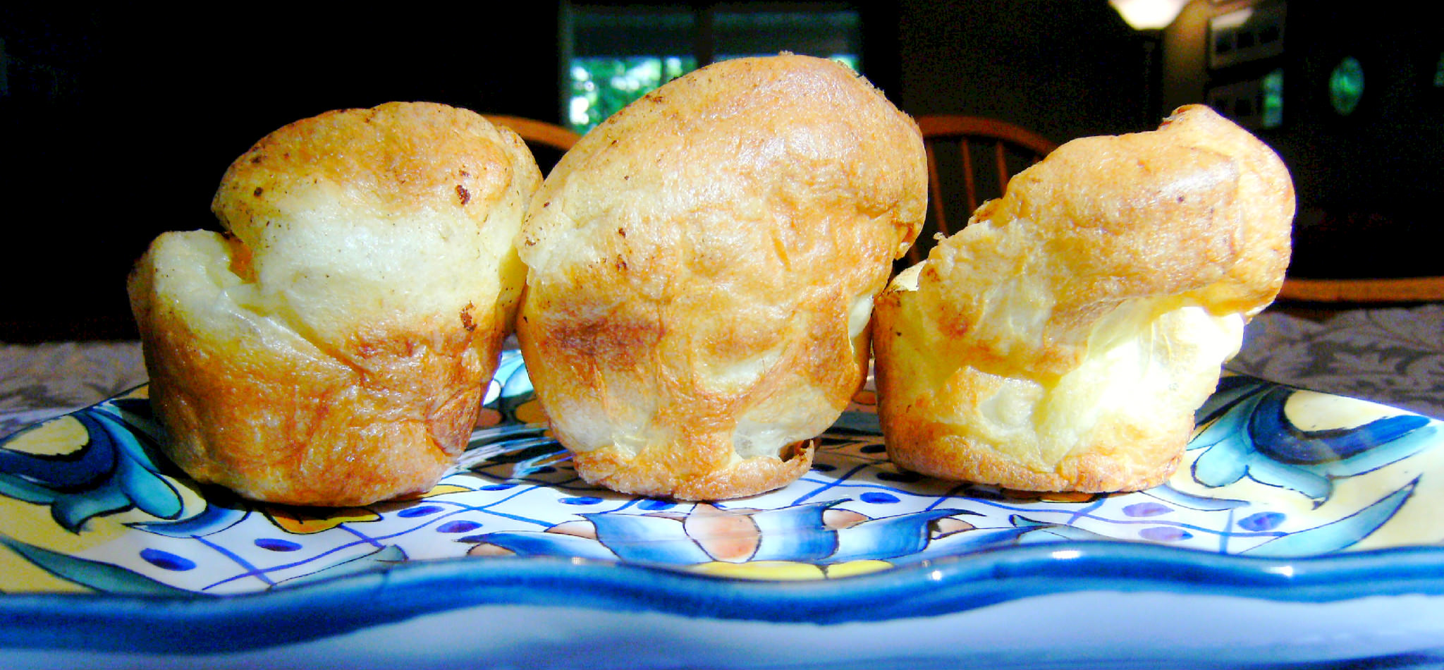 Super Easy Popovers   ComfortablyDomestic.com - Popovers are light and fluffy and perfect for serving with any comfort food dinner. Just 5 ingredients and only 5 minutes prep to get them into the oven, makes these super easy popovers!