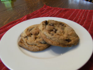 My favorite chocolate chip cookie recipe creates soft, chewy cookies that are stuffed with chocolate chips. Get the recipe on ComfortablyDomestic.com