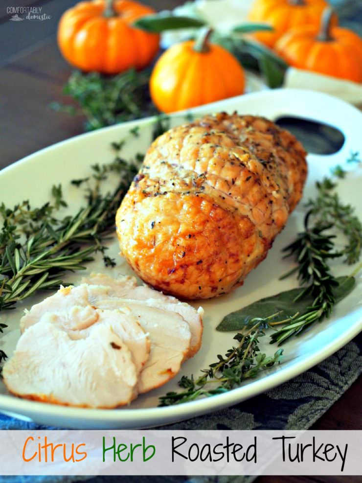Citrus-herb-roasted-turkey, perfectly tender and juicy...it is guaranteed if you follow this simple recipe method.