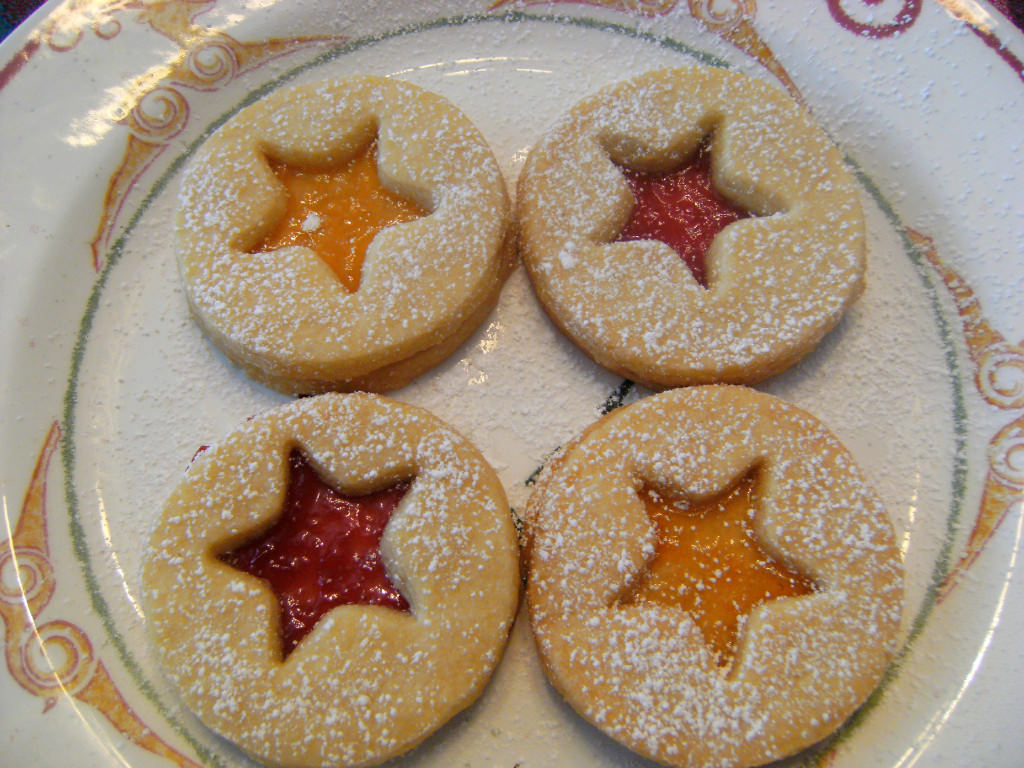 Shortbread Linzer Cookies - Get the recipe from ComfortablyDomestic.com