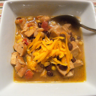 Slow Cooker Chicken Chili - Recipe on ComfortablyDomestic.com