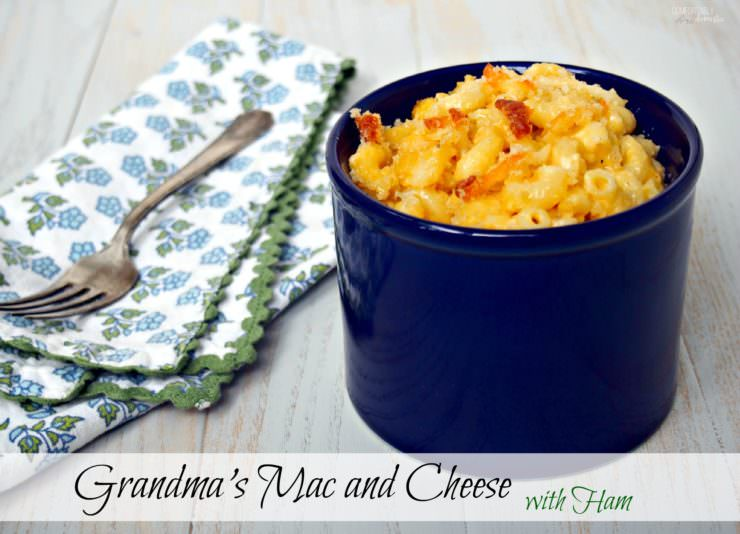 Grandma's-Mac-and-Cheese is rich, cheesy and creamy just like grandma used to make!