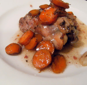 Chicken with Carrots and Roasted Garlic