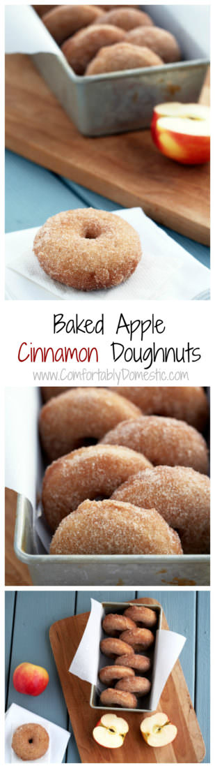 Apple-Cinnamon-Doughnuts-are-soft-baked-donuts that wrap your taste buds in the comforting flavors of fall.