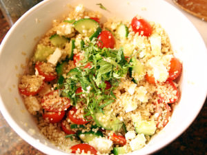 Greek Quinoa Salad {Salad Week Finale}
