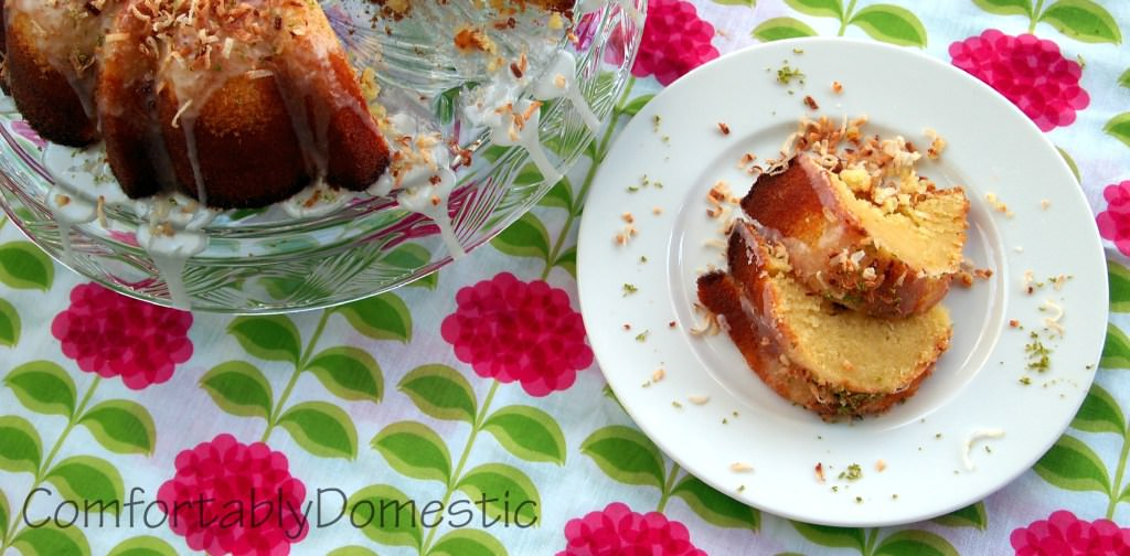 Coconut Bundt Cake with Key Lime Glaze | ComfortablyDomestic.com