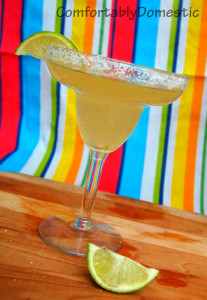 REAL Margaritas, made with homemade sour mix, are the perfect way to celebrate Cinco de Mayo. | ComfortablyDomestic.com