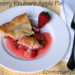 Strawberry rhubarb apple pie bakes fresh strawberries, rhubarb, and apples into a tender, buttery crust. The perfect trio of flavors for a spectacular dessert!