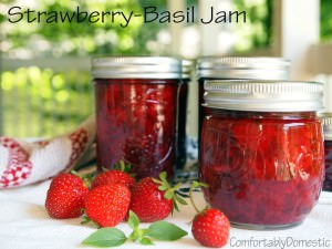 No sugar added strawberry-basil jam transforms summer's freshest strawberries and fresh basil into a delicious, naturally sweetened condiment.