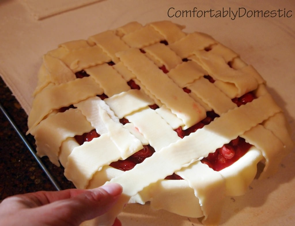 Favorite Cherry Pie is a  delicious take on the American classic tart cherry pie; for when simplicity yields the tastiest results. | ComfortablyDomestic.com