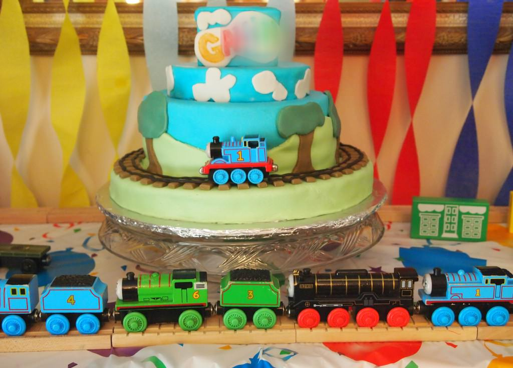My favorite chocolate cake recipe, decorated with a Thomas the Tank Engine theme. | ComfortablyDomestic.com