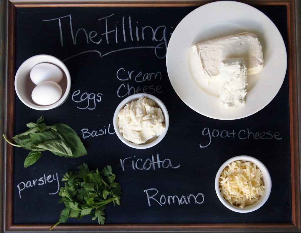 Ingredients to make the filling for Tuscan crepes | ComfortablyDomestic.com