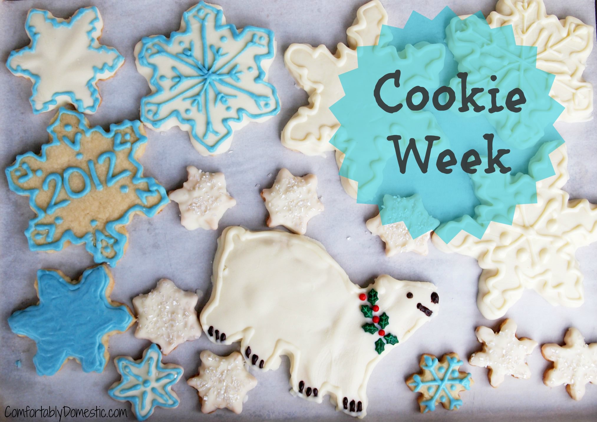 Look here for the delicious and easy cookie recipes being shared for the 4th day of Cookie Week 2012! Colossal cookies and sesame plum thumbprint cookies!
