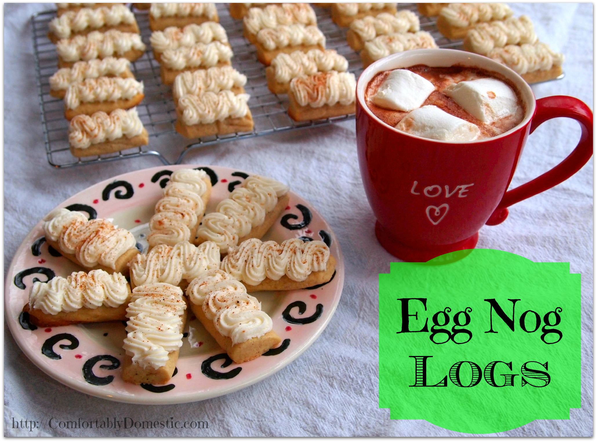 Egg Nog Logs by Comfortably Domestic