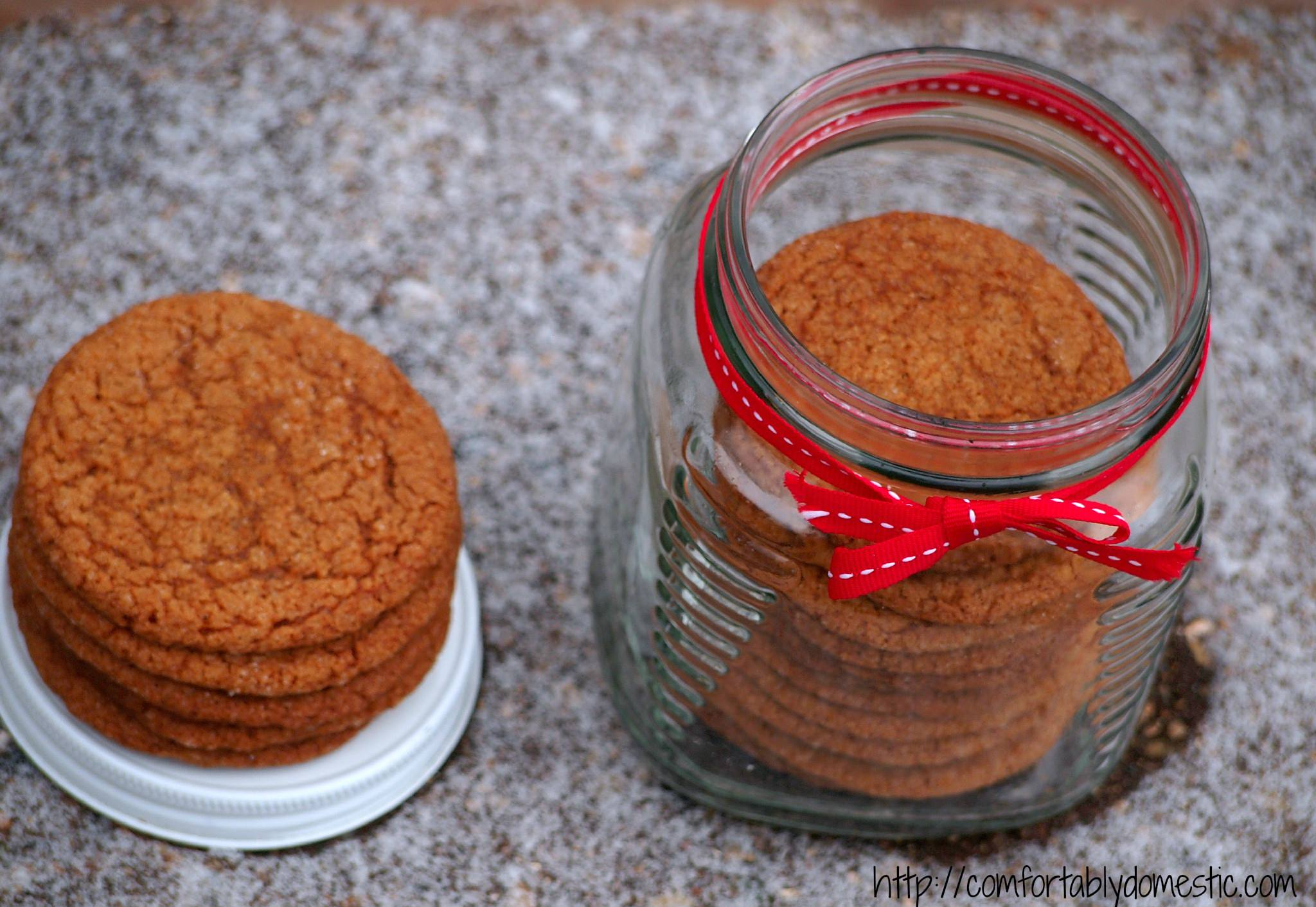 Old-Fashioned Gingersnaps by ComfortablyDomestic.com