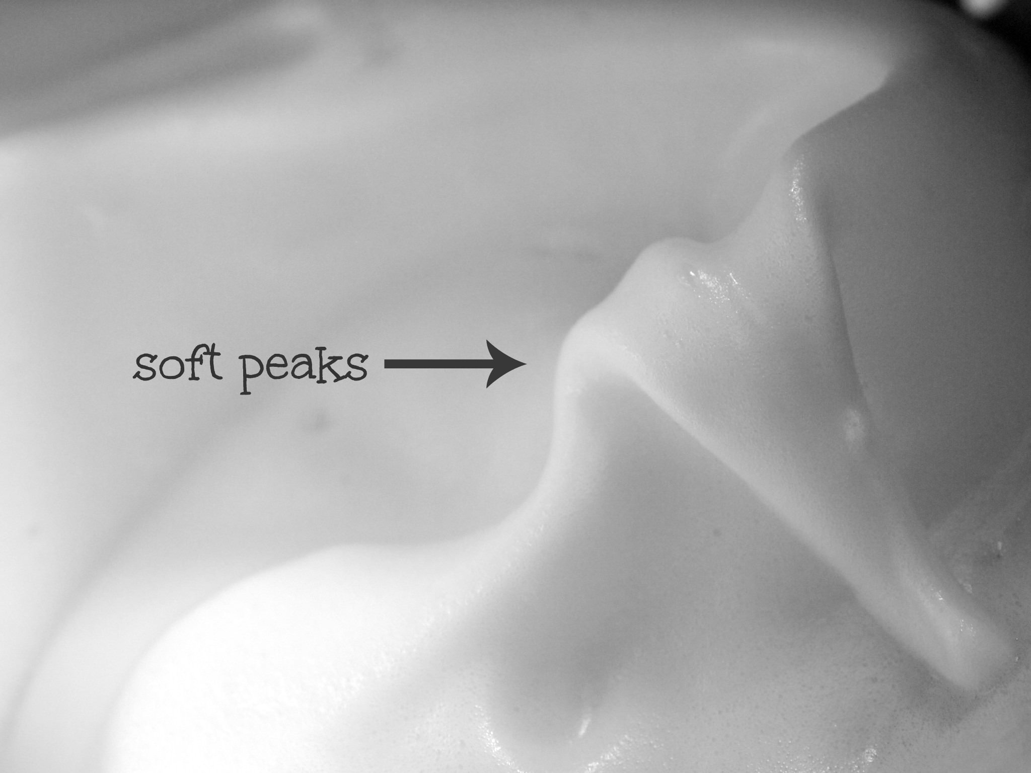 soft peaked egg whites