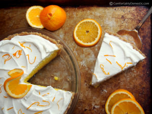 Orange Cream Pie | Comfortably Domestic