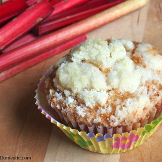 Fresh rhubarb permeating through every inch of fluffy, tender muffins, with a sweet crumb topping. These muffins are perfect for breakfast, an afternoon snack, or dessert.