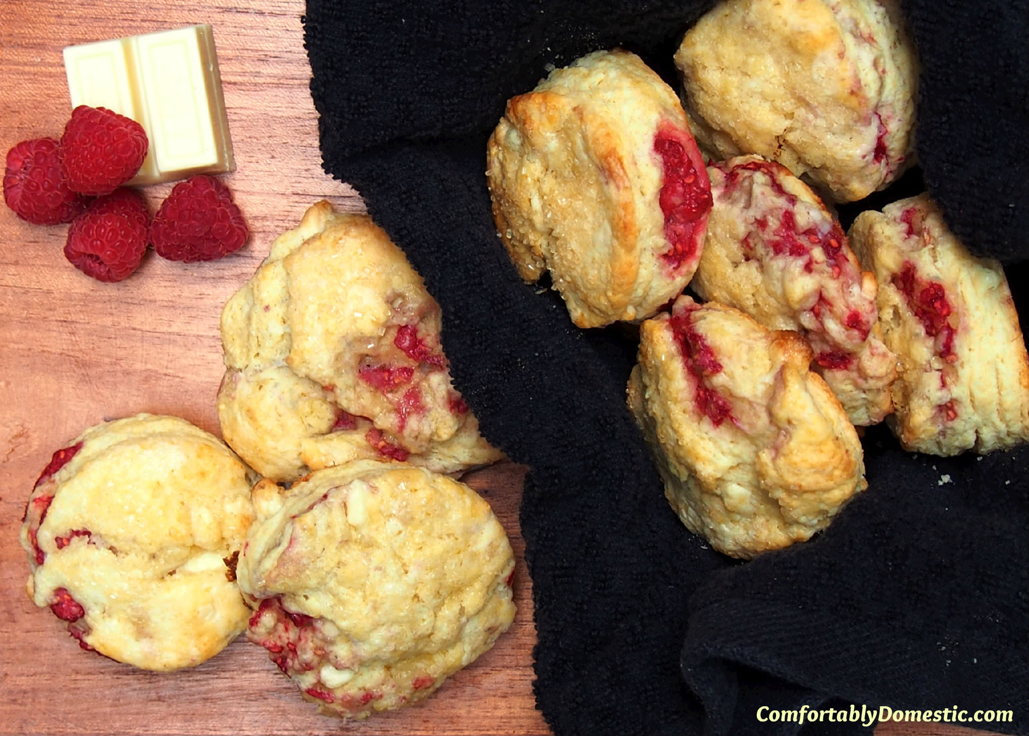 White Chocolate Raspberry Scones 2 | ComfortablyDomestic.com