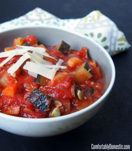 Homemade Ratatouille (Vegetable Stew) | Recipe from ComfortablyDomestic.com