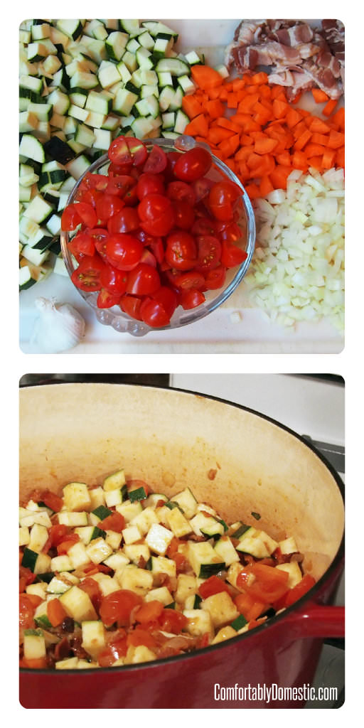 Fresh Vegetable Stew (Ratatouille) | ComfortablyDomestic.com