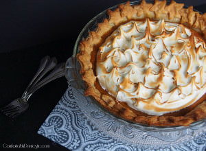 Maple sweet potato pie is a delicately spiced Southern pie with creamy sweet potato custard. Topped with marshmallow-like Swiss meringue, it's a nice alternative to pumpkin pie.