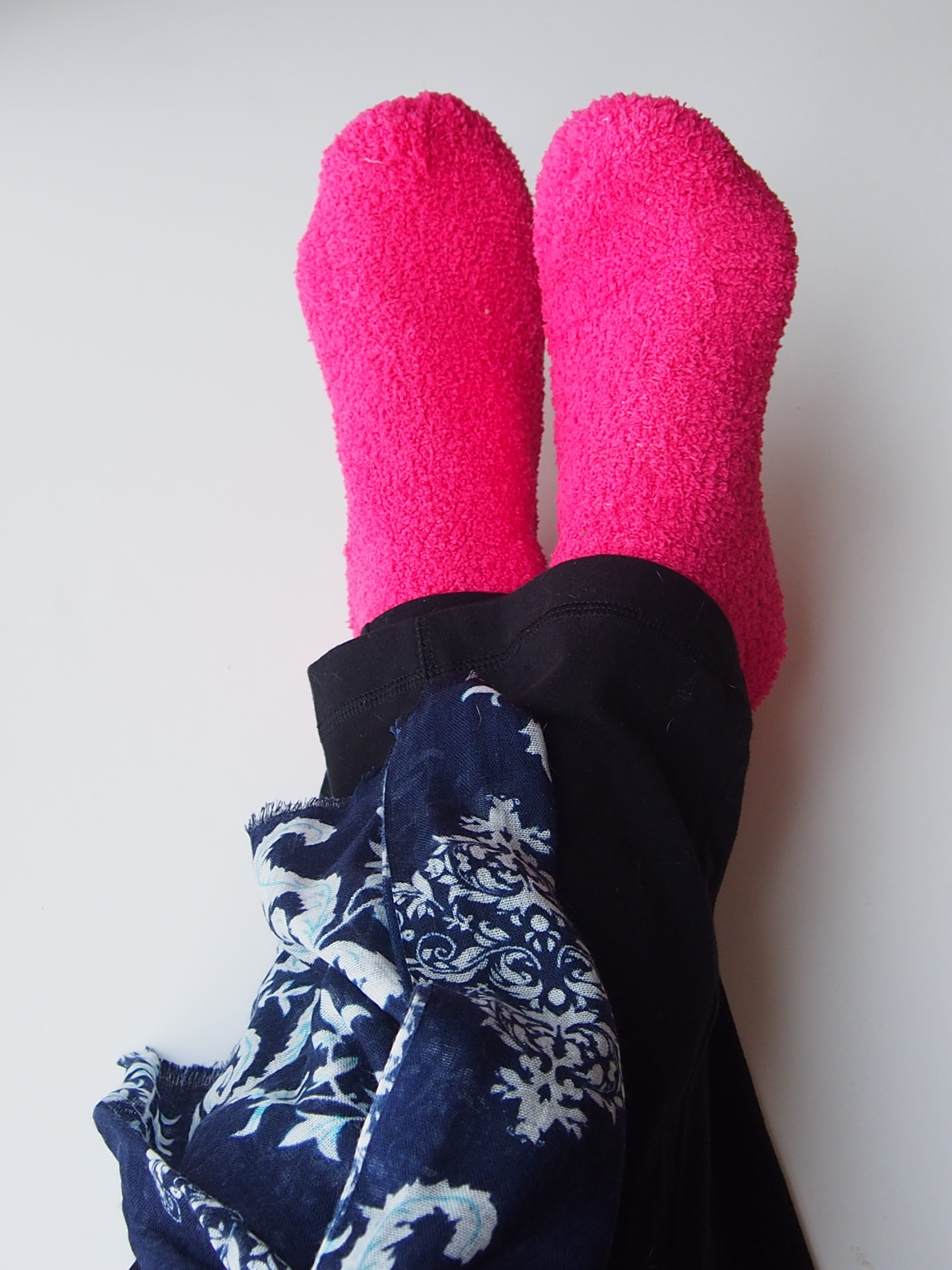 fuzzy socks scarf yoga pants