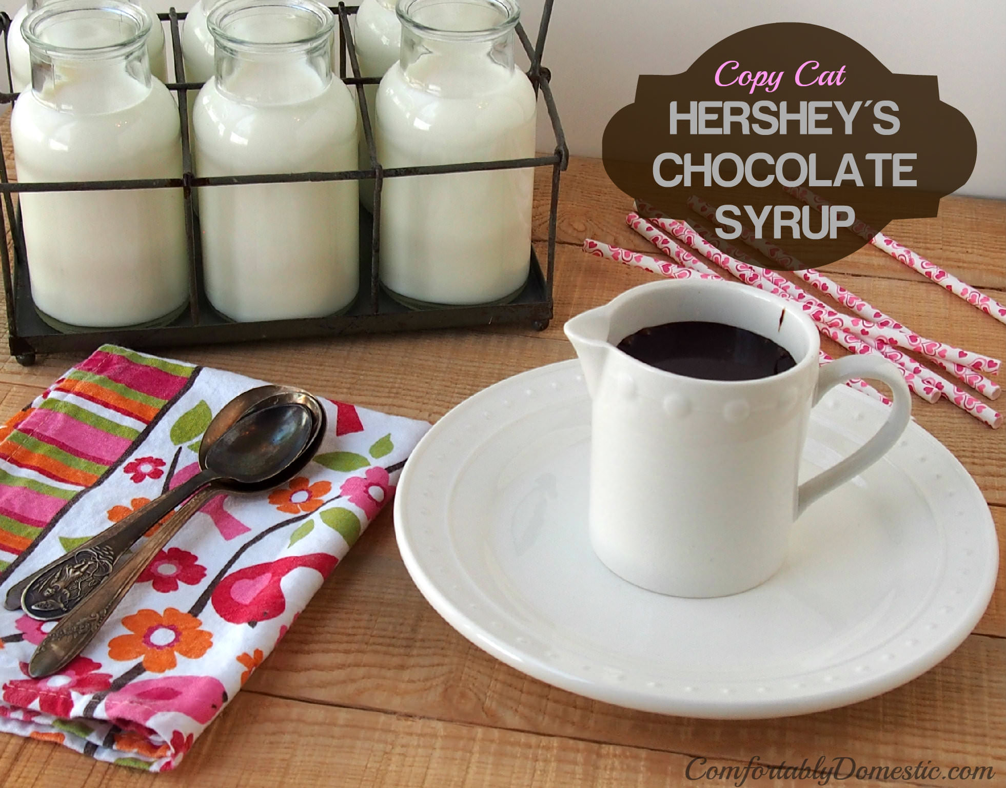 Copy Cat Hershey's Chocolate Syrup | ComfortablyDomestic.com