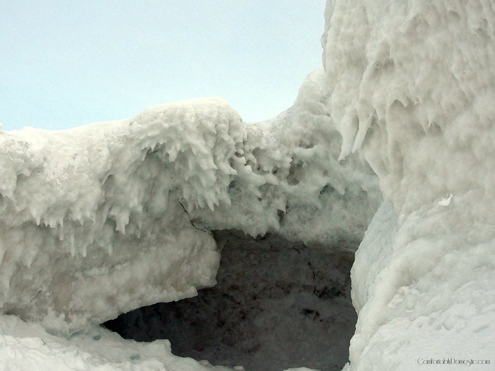 Lake Michigan Ice Cave | ComfortablyDomestic.com