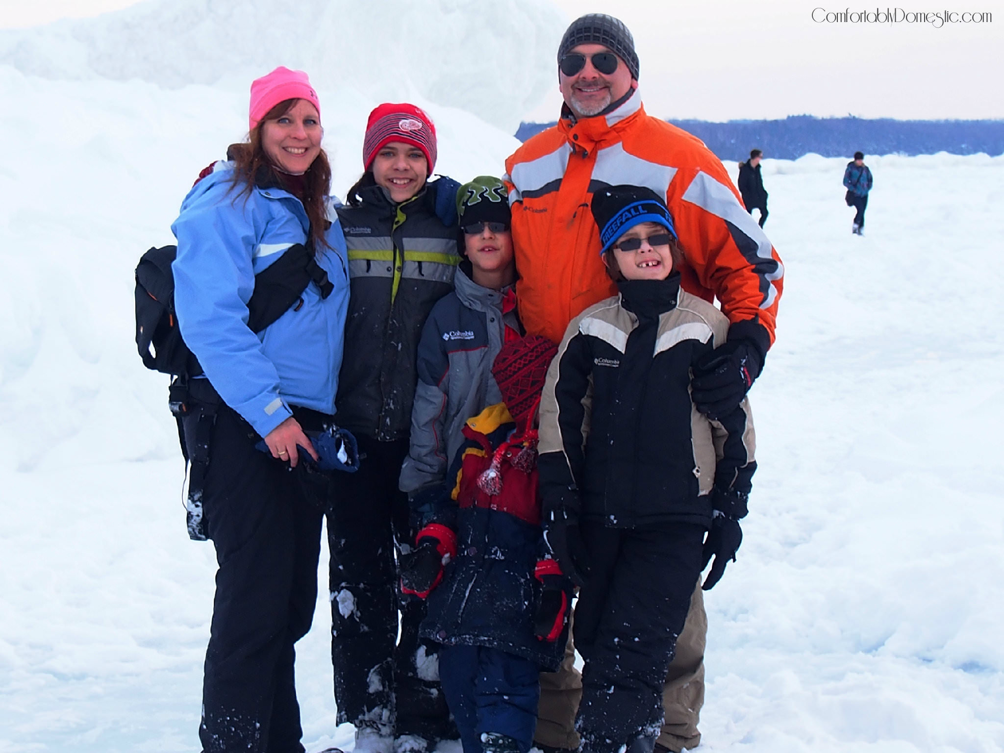 Comfortably Domestic Family Ice Explorers
