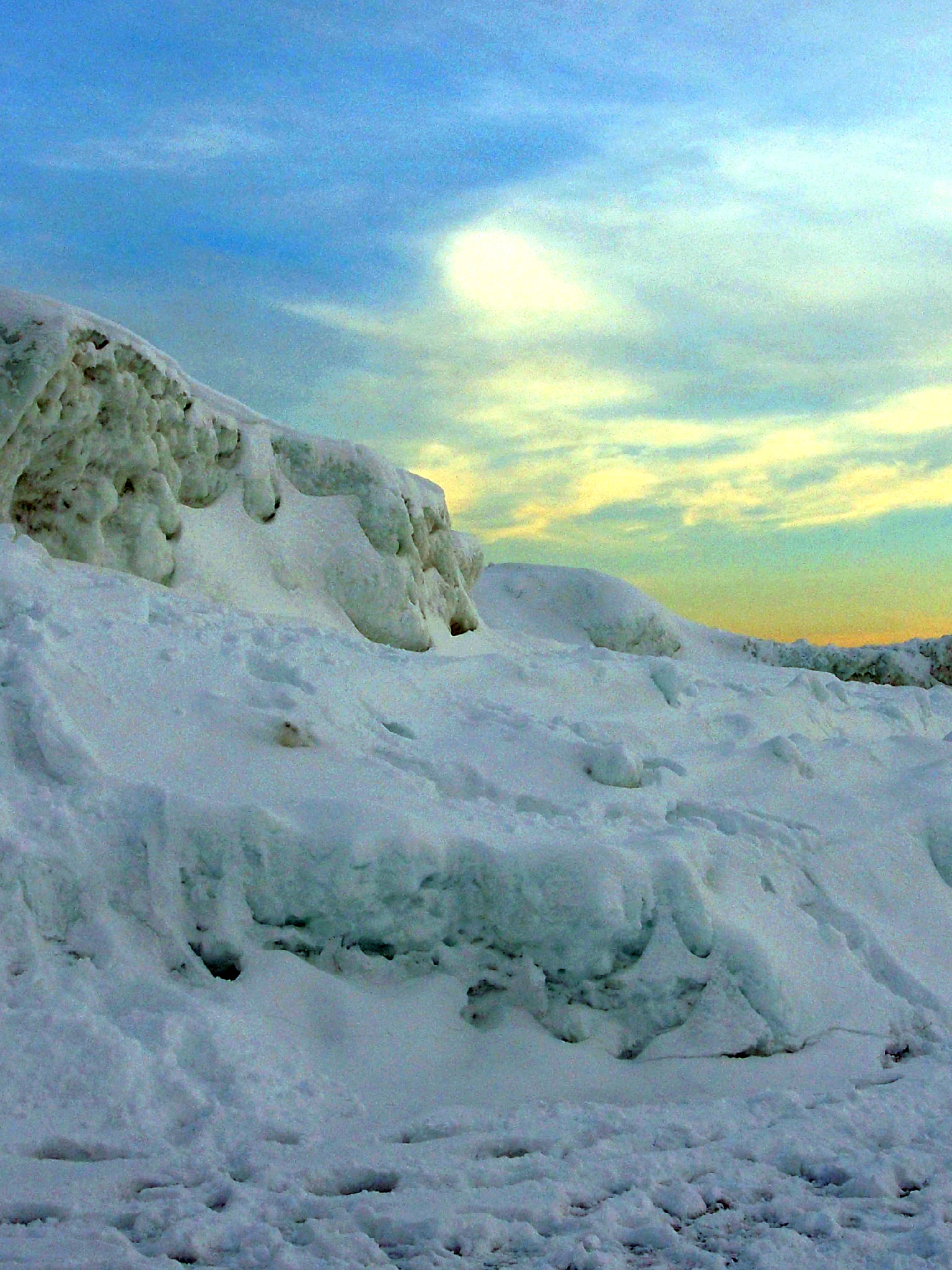Lake Michigan Ice Caves at Sunset | ComfortablyDomestic.com