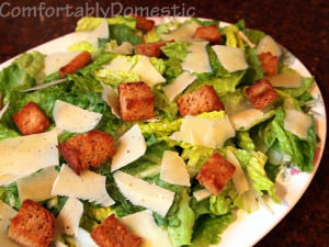 Simple Caesar Salad with Egg-Free Caesar Dressing