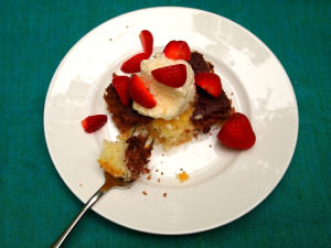 One Recipe Two Ways: Chocolate Loves Vanilla Cake or Cupcakes