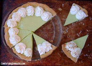 Classic Key Lime Pie with Coconut Whipped Cream | ComfortablyDomestic.com