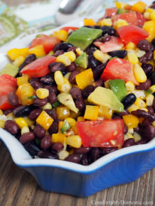 Black Bean Corn Salad {Healthy Recipes}
