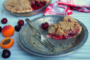 Sweet Cherry Apricot Crumb Pie, a.k.a. Squeezing in the Last Bites of Summer