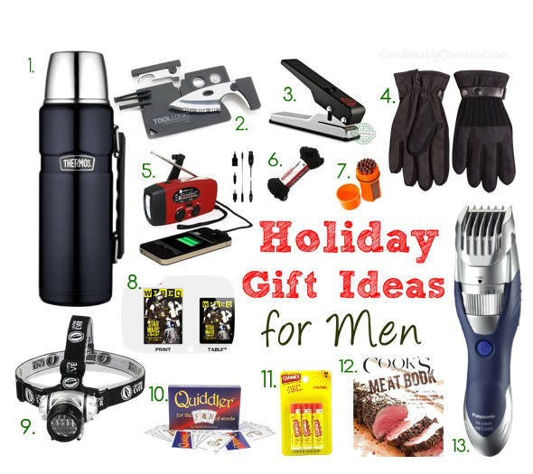 Holiday Gift Guide for Men | ComfortablyDomestic.com