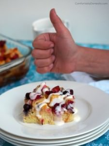 Mixed Berry Baked French Toast Casserole | ComfortablyDomestic.comsserole | ComfortablyDomestic.com