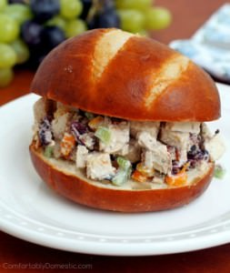 Light Chicken Salad with Yogurt Dressing