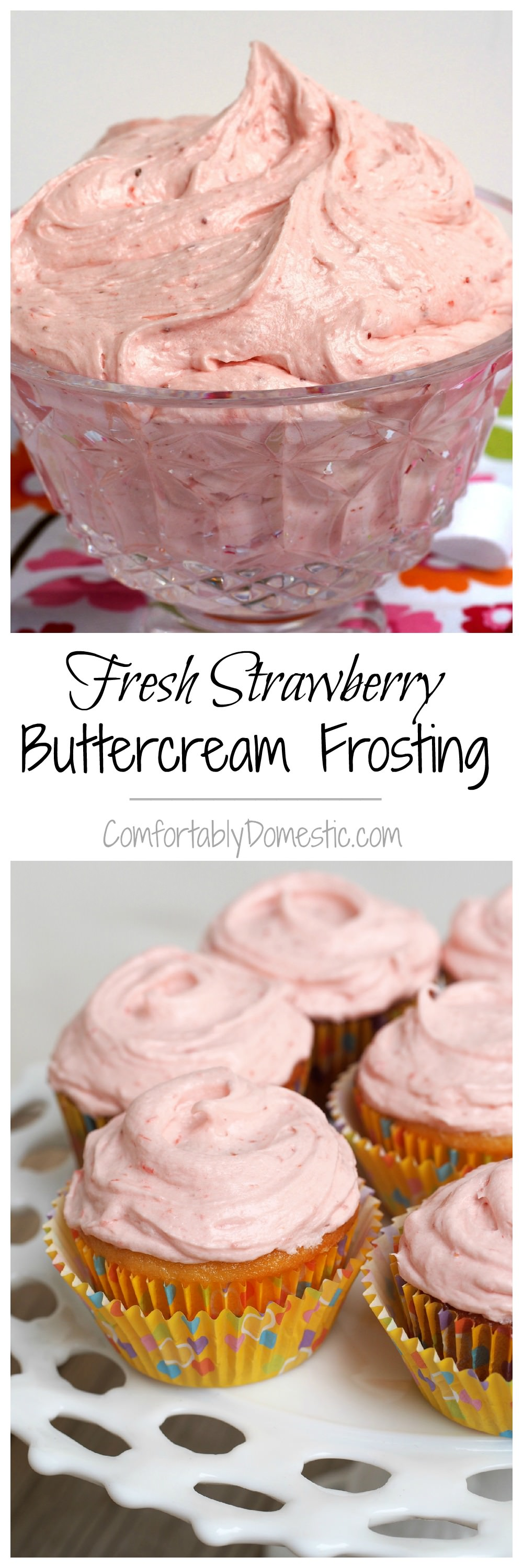 Fresh-Strawberry-Buttercream | ComfortablyDomestic.com