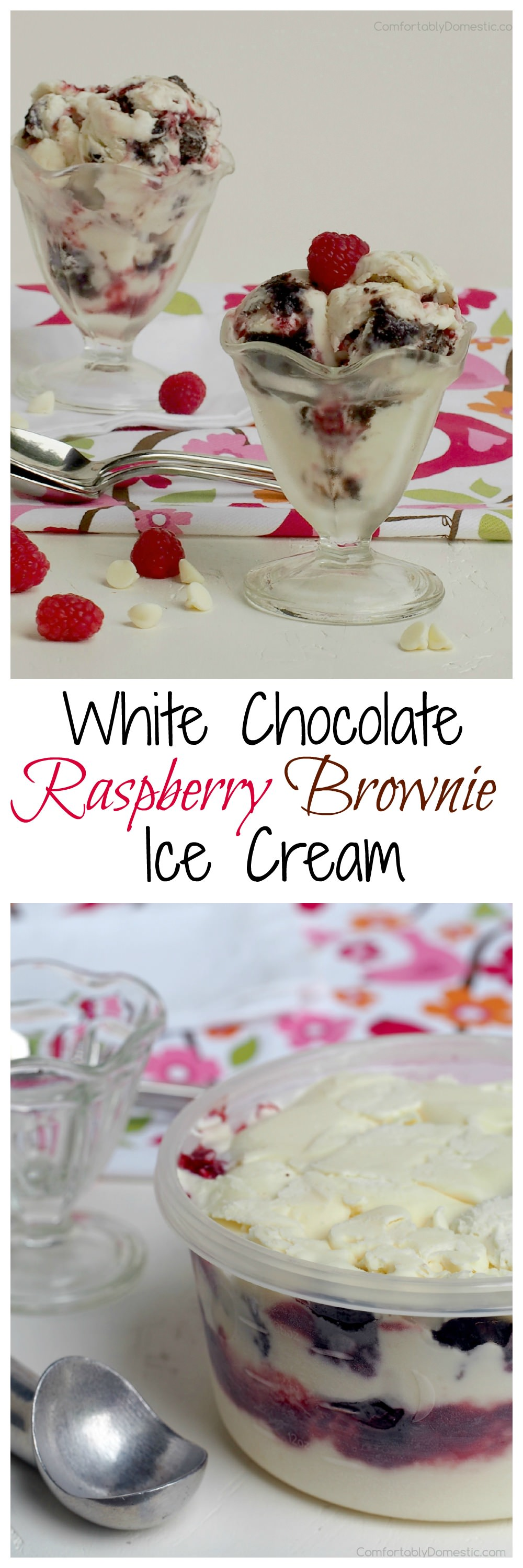 White-Chocolate-Raspberry-Brownie-Ice-Cream | ComfortablyDomestic.com