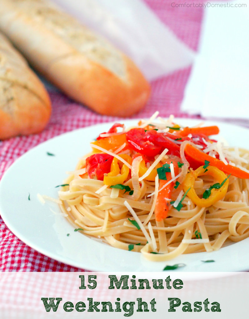 15-Minute Weeknigh Pasta Recipe | ComfortablyDomestic.com