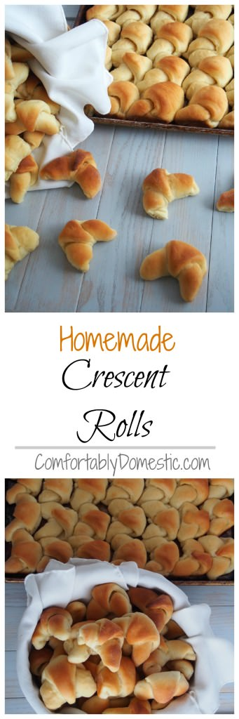 Homemade-Crescent-Rolls-from-scratch-Collage | ComfortablyDomestic.com