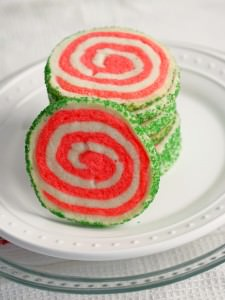 Peppermint Shortbread Pinwheel Cookies