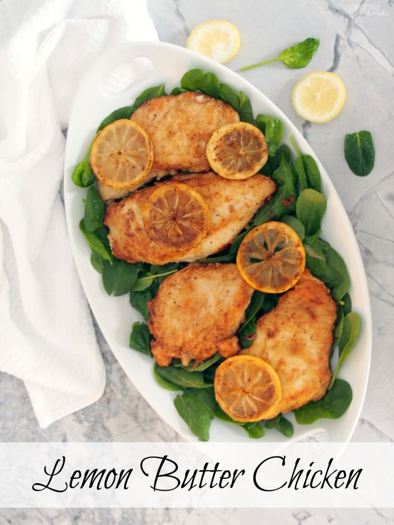 Lemon-Butter-Chicken-is-a-lighter-version-of-chicken-piccata-but-every-bit-as-delicious-30-minute-meal | ComfortablyDomestic.com