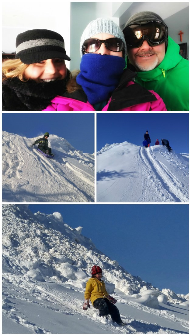 sledding-collage