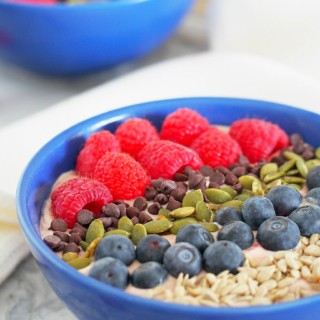 Tart-Cherry-Smoothie-Bowls-with-Avocado-Seeds-and-berries