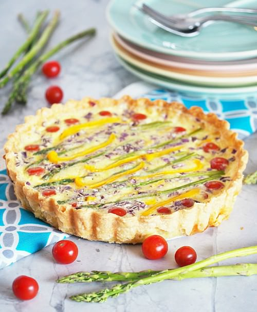 Spring-Vegetable-Quiche-Tart