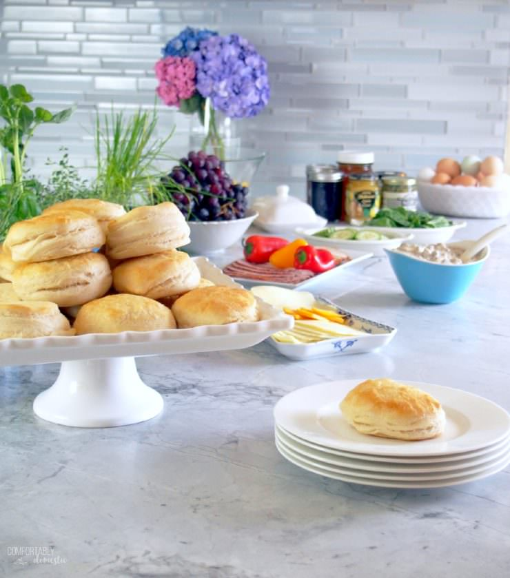 Hosting-a-Biscuit-Bar-Brunch makes it both easy and delicious to entertain and feed a crowd.