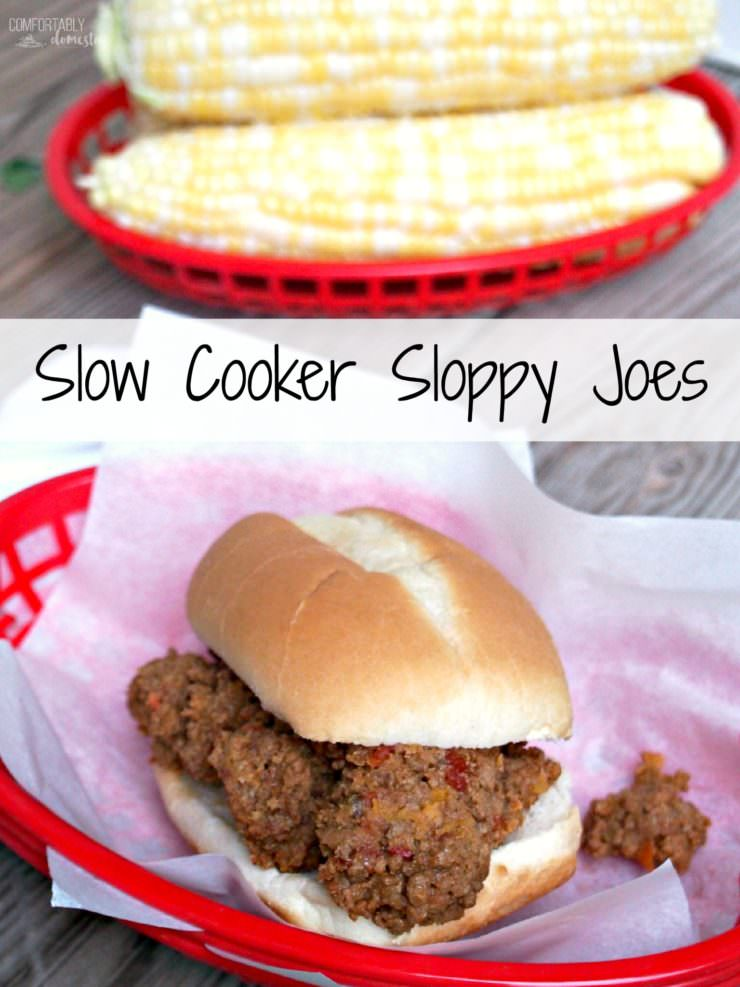 Slow-Cooker-Sloppy-Joes are a hearty sandwich filling recipe made from scratch with robustly seasoned ground beef, sausage, and tomatoes. Slow Cooker Sloppy Joes are a comforting, heart-warming meal anytime.